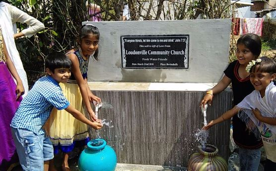 Rise India water well dedication