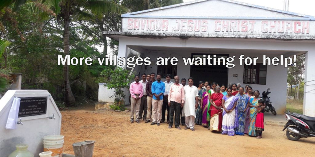 There are thousands of villages needing fresh water