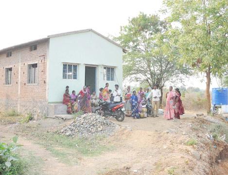 Krupa Prarthana Church water well dedication in India
