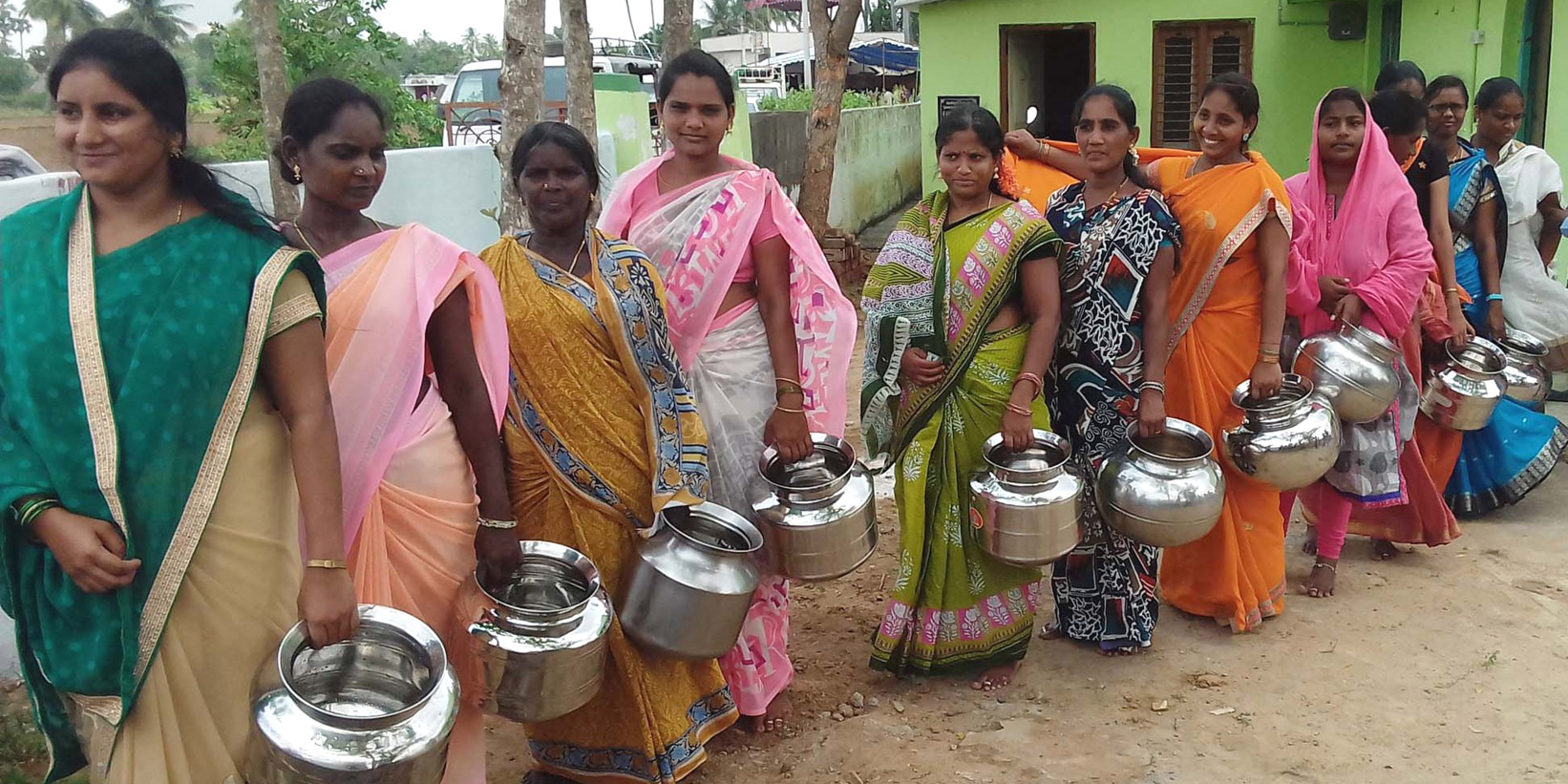 water well installed in India